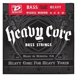 Dunlop Bajo 4 cuerdas Heavy Core 45-105