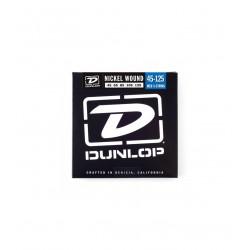 Dunlop DBN45125 Juego Bajo 5 cuerdas Nickel 45-125